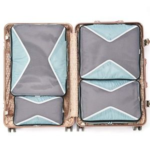 Light Blue Set of 4 Packing Cubes for Travel
